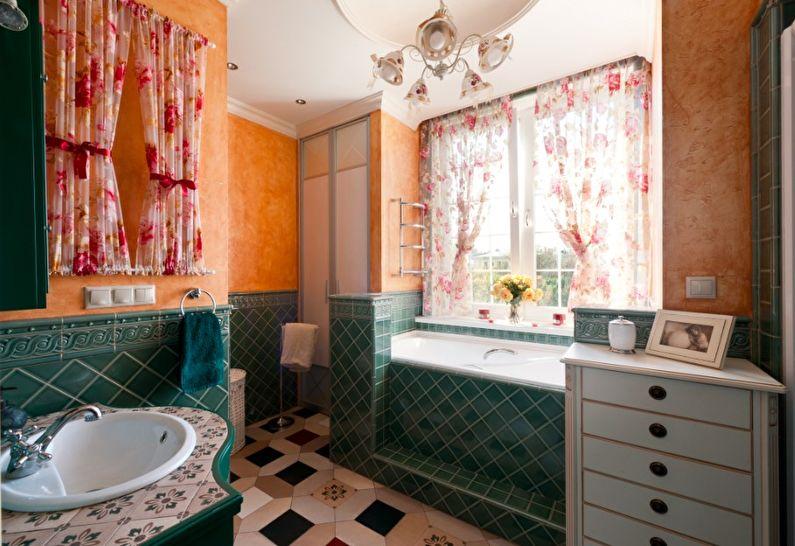 Дизайн ванной комнаты в стиле прованс - Аксессуары и декор
