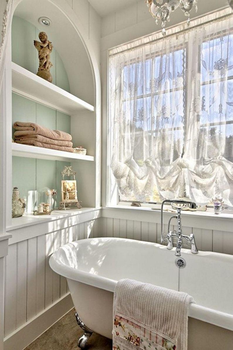 Дизайн интерьера ванной комнаты в стиле прованс - фото