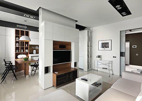 Стенка в гостиную в современном стиле (50+ фото)