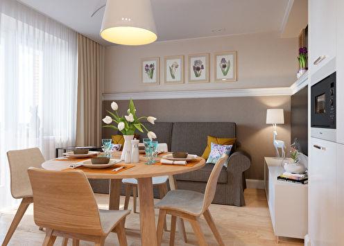 Небольшая квартира в Петербурге, 45 м2