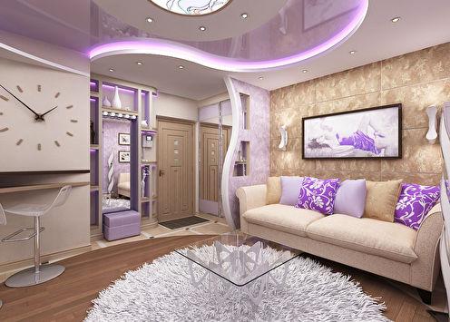 Дизайн-проект квартиры в стиле фьюжн