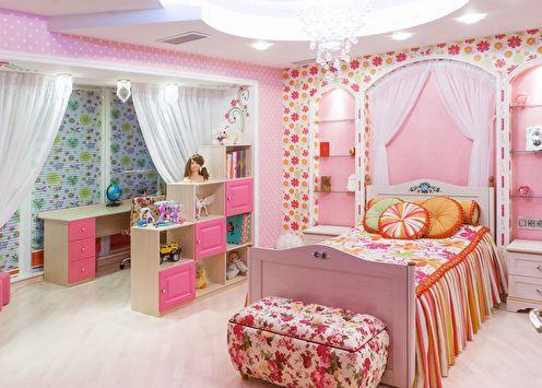 Дизайн детской комнаты для девочки (65+ фото)