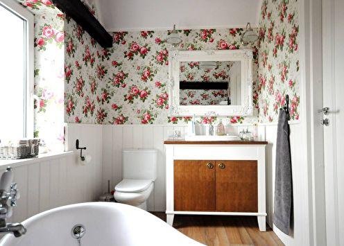 Дизайн ванной комнаты в стиле прованс (55 фото)