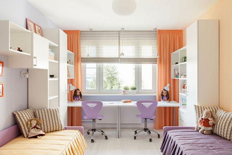 Письменный стол для школьника - Двойной стол