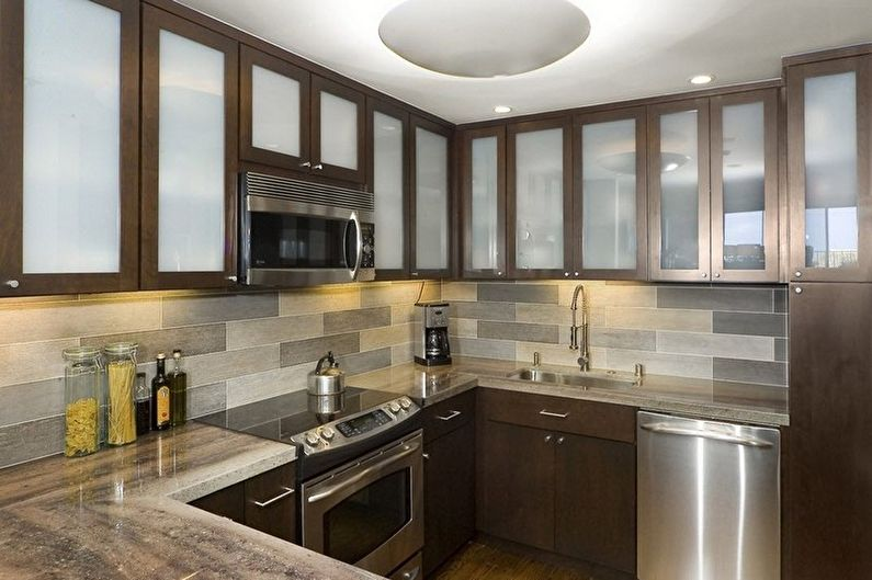 Дизайн коричневой кухни - Сочетания цветов