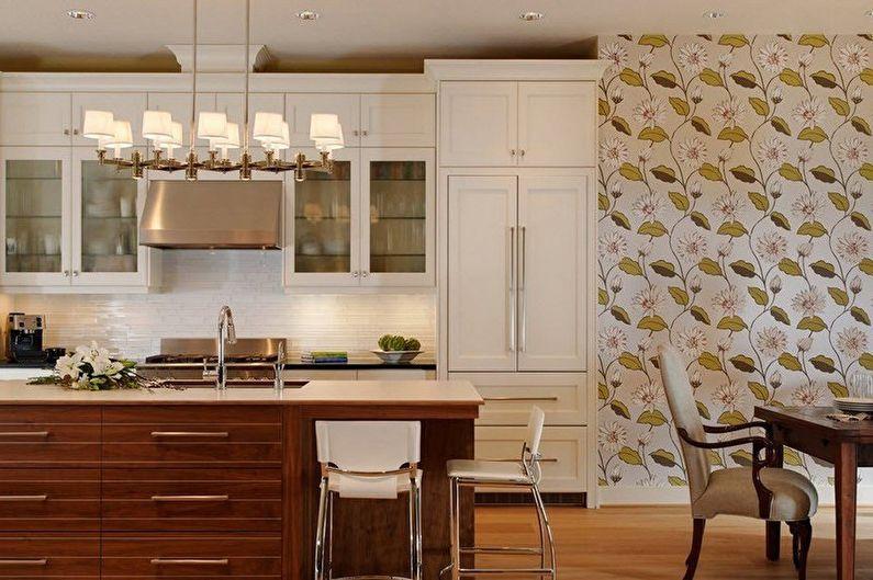 Дизайн коричневой кухни - Отделка стен