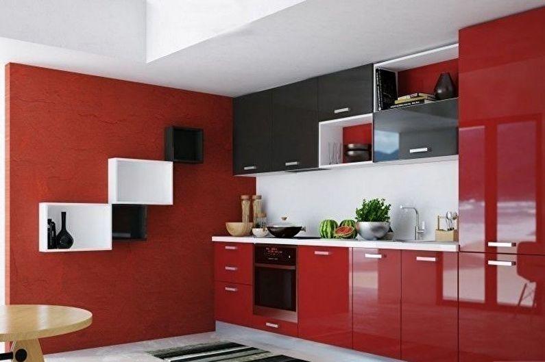 кухня в красно-бело-черном цвете фото дочерей последнего