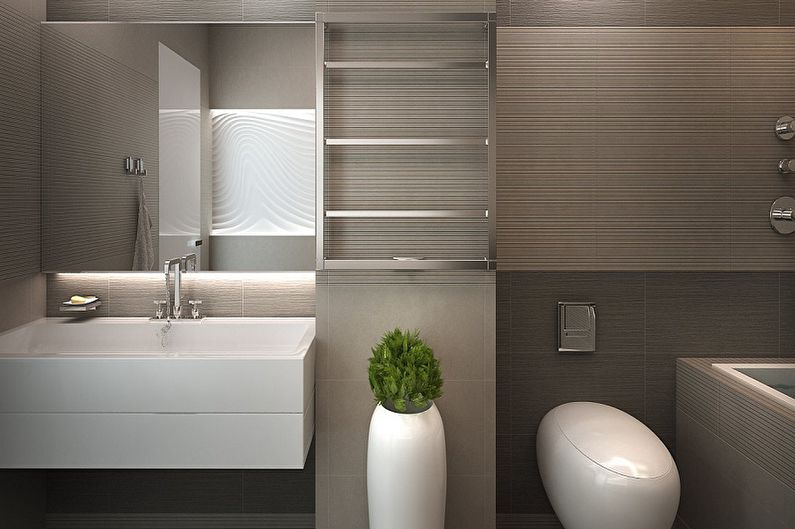 Дизайн ванной комнаты в стиле минимализм - Особенности