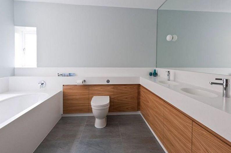 Дизайн ванной комнаты в стиле минимализм - Отделка пола