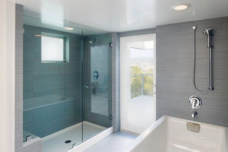 Дизайн ванной комнаты в стиле минимализм - Отделка потолка