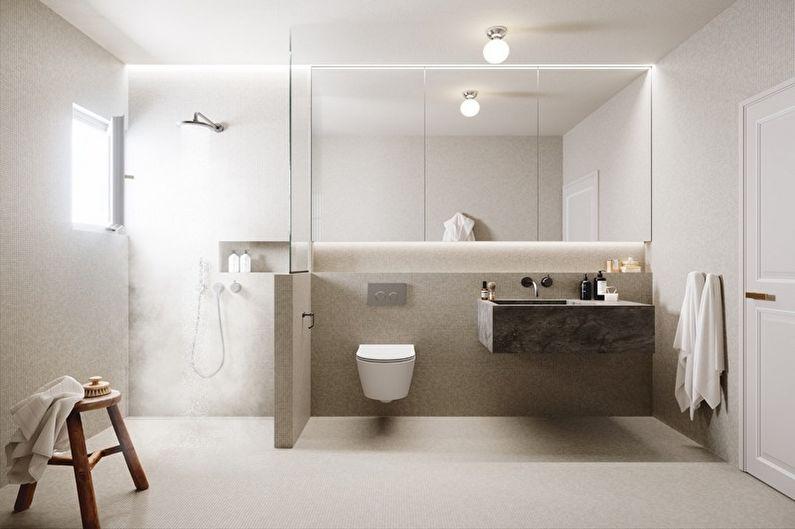 Дизайн ванной комнаты в стиле минимализм - Мебель
