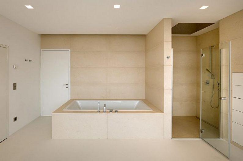 Дизайн ванной комнаты в стиле минимализм - Освещение
