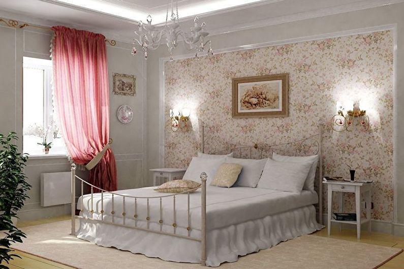 Бежевая спальня в стиле прованс - Дизайн интерьера