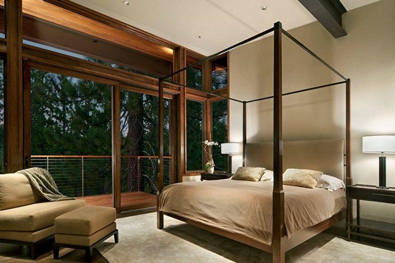 Дизайн бежевой спальни - Отделка пола