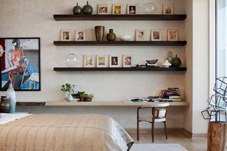 Дизайн бежевой спальни - Мебель