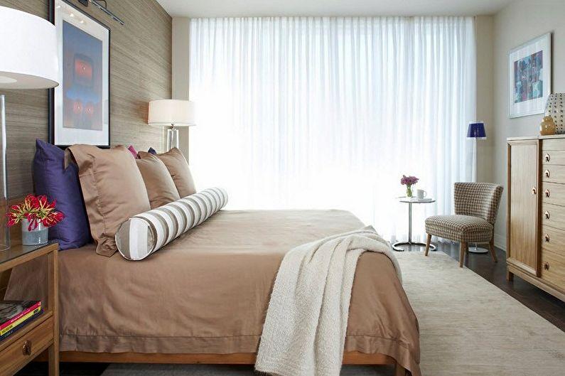 Дизайн бежевой спальни - Декор и освещение