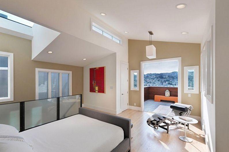 Бежевая спальня - дизайн интерьера фото