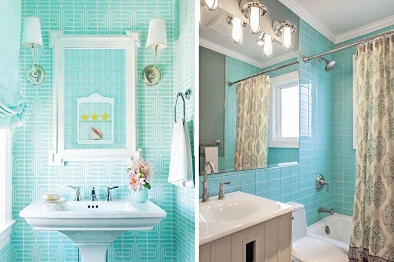 Бирюзовая ванная в классическом стиле - Дизайн интерьера