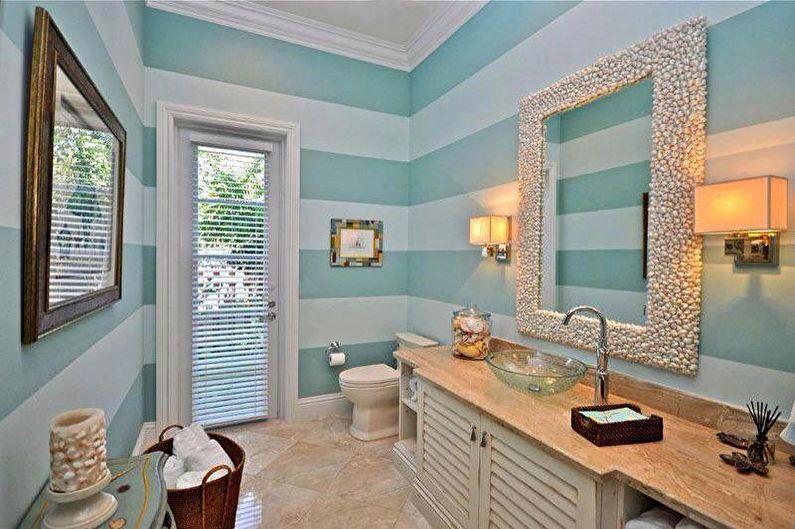 Дизайн бирюзовой ванной комнаты - Декор и освещение