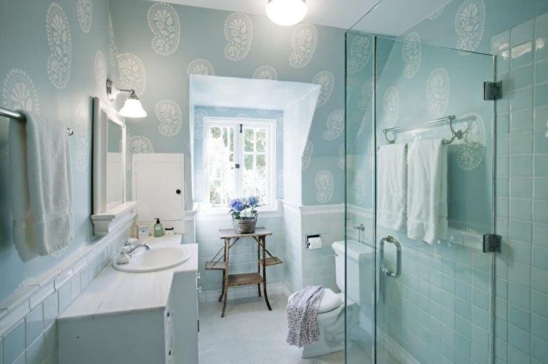 Бирюзовая ванная комната - дизайн интерьера фото