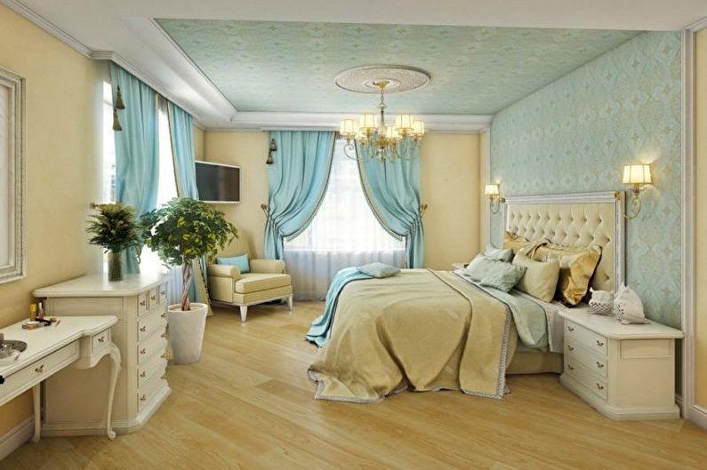 Дизайн бирюзовой спальни - Сочетания цветов