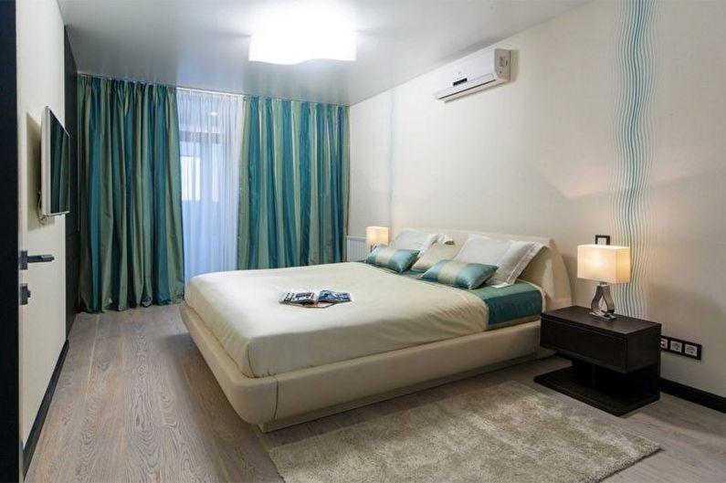 Дизайн бирюзовой спальни - Отделка потолка
