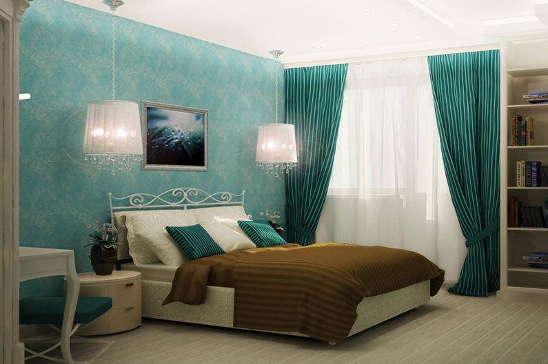 Дизайн бирюзовой спальни - Освещение