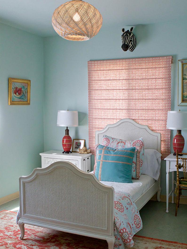 Бирюзовая спальня (70 фото): дизайн интерьера, идеи для ... Бирюзовая Гостиная