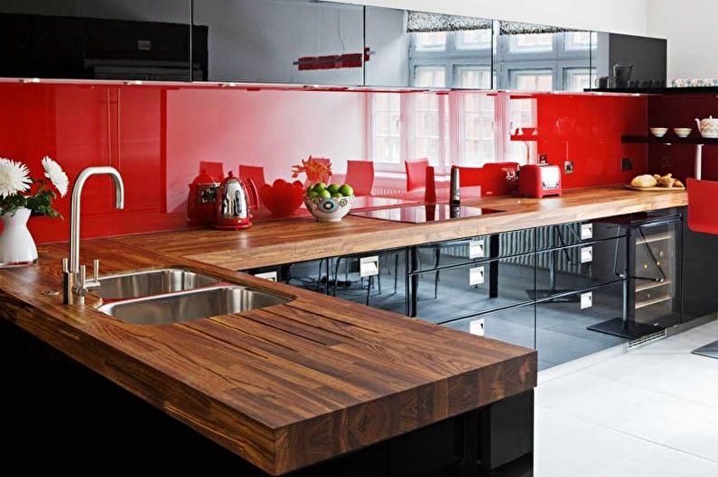Красно-черная кухня: идеи дизайна (70 фото)
