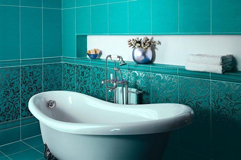 Бирюзовая ванная комната: 75 фото-идей