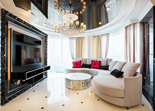 Интерьер квартиры в гламурном стиле, Екатеринбург