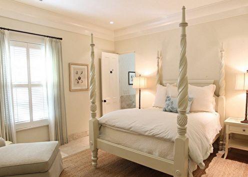 Бежевая спальня: 75 идей дизайна