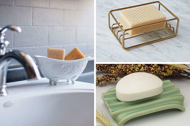 Аксессуары для ванной комнаты - Мыльницы