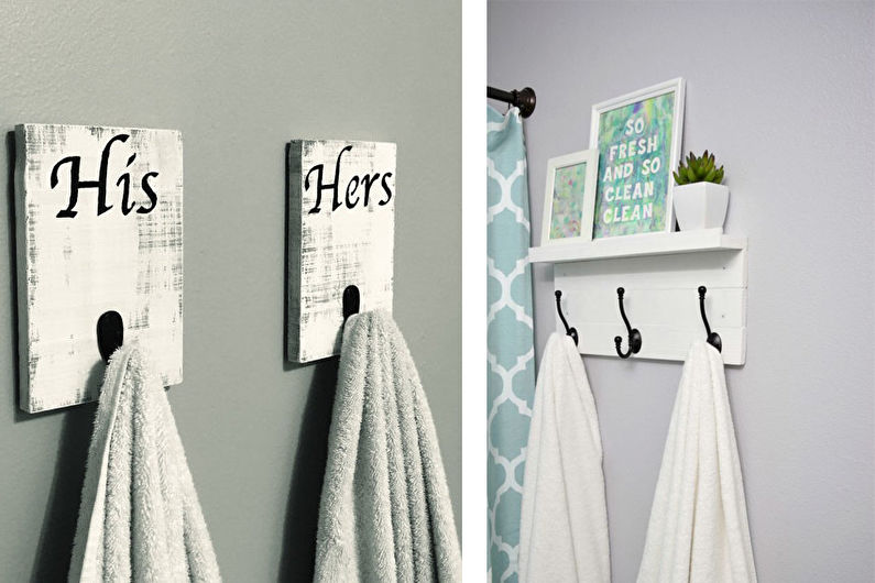 Аксессуары для ванной комнаты - Крючки