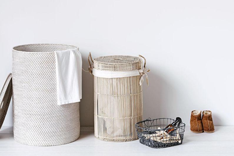 Аксессуары для ванной комнаты - Корзины для белья