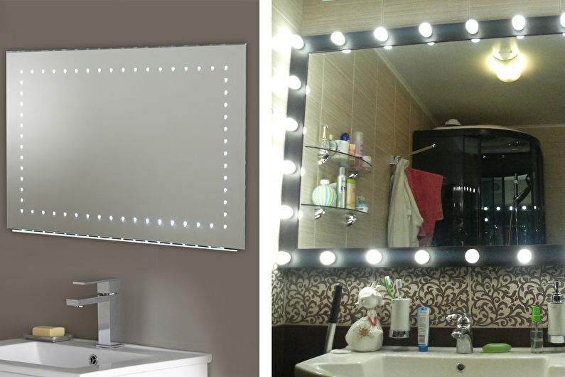Аксессуары для ванной комнаты - Зеркала