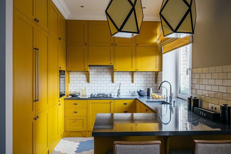 Барная стойка для кухни, встроенная в мебель