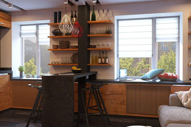 Барная стойка-перегородка для кухни