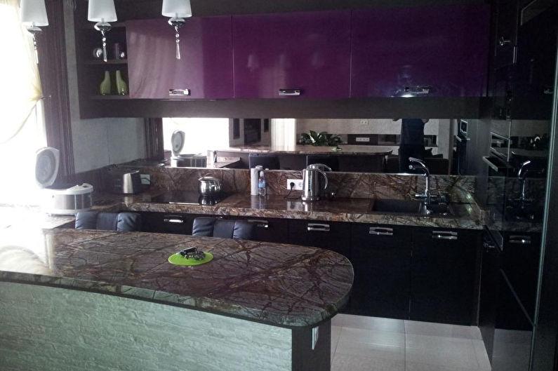 Барная стойка для кухни из натурального камня