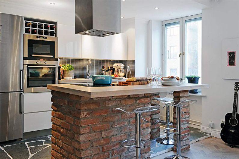 Барная стойка для кухни - фото