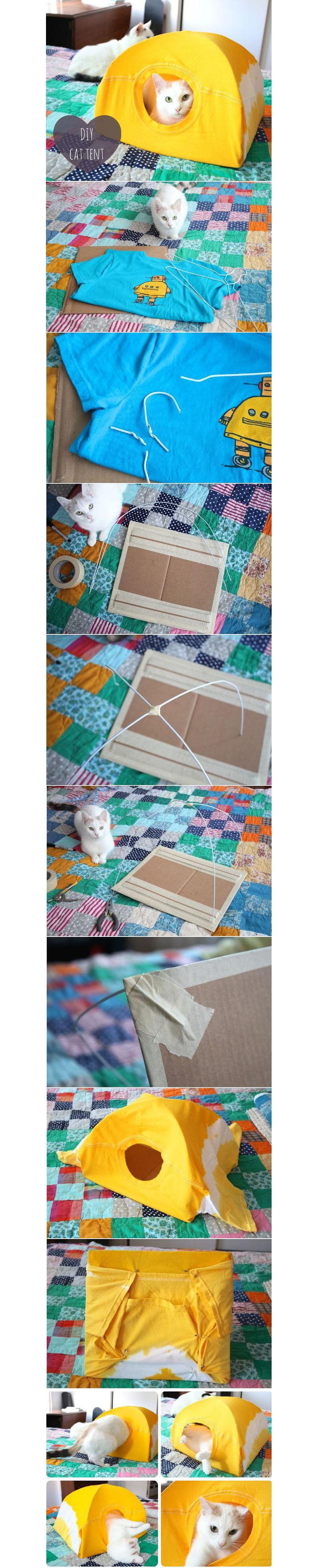 Домик для кошки своими руками - Палатка