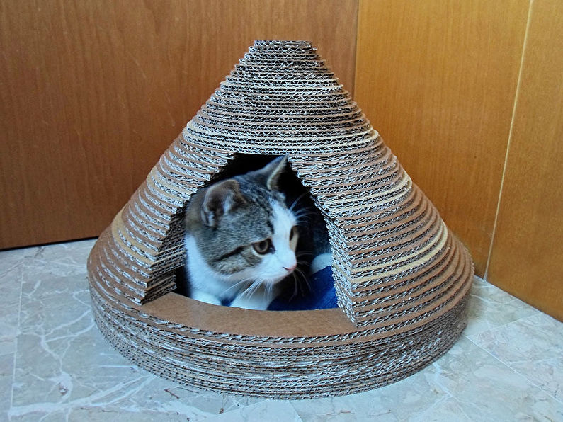Домик для кошки своими руками - Домик из гофрированного картона