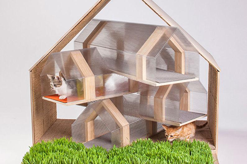 Домик для кошки своими руками - фото