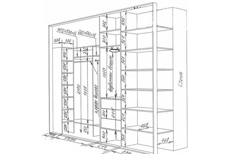 Встроенный шкаф-купе своими руками - замеры