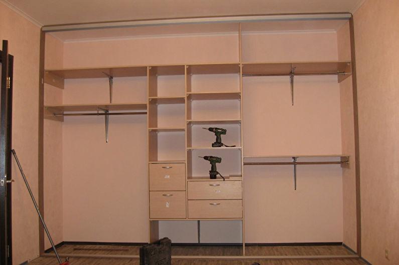 Встроенный шкаф-купе своими руками - материалы и детали