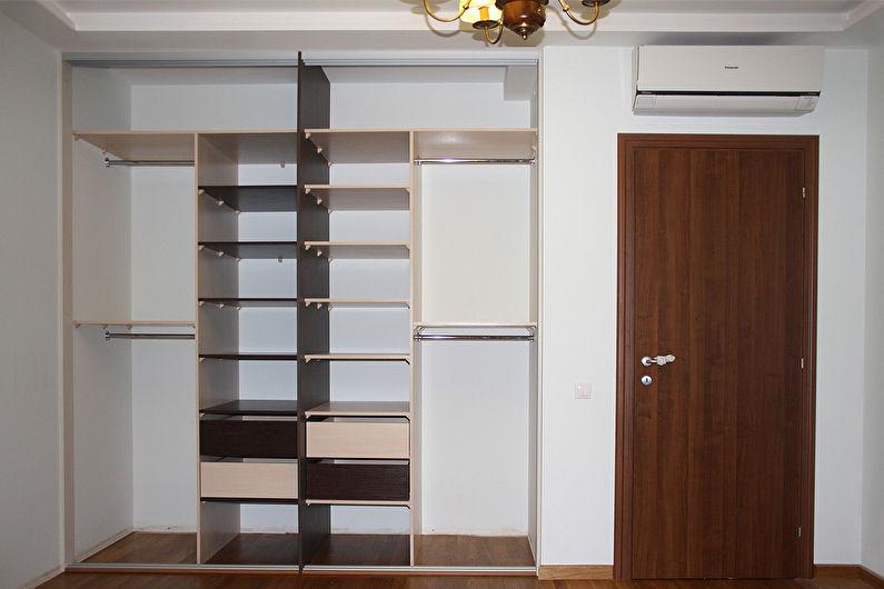 Встроенный шкаф-купе своими руками - отделка ниши