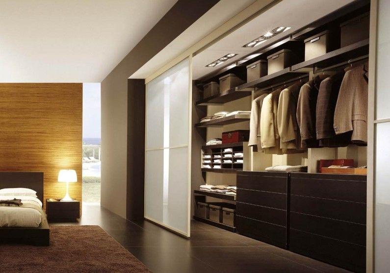 Дизайн гардеробной комнаты - Линейная планировка