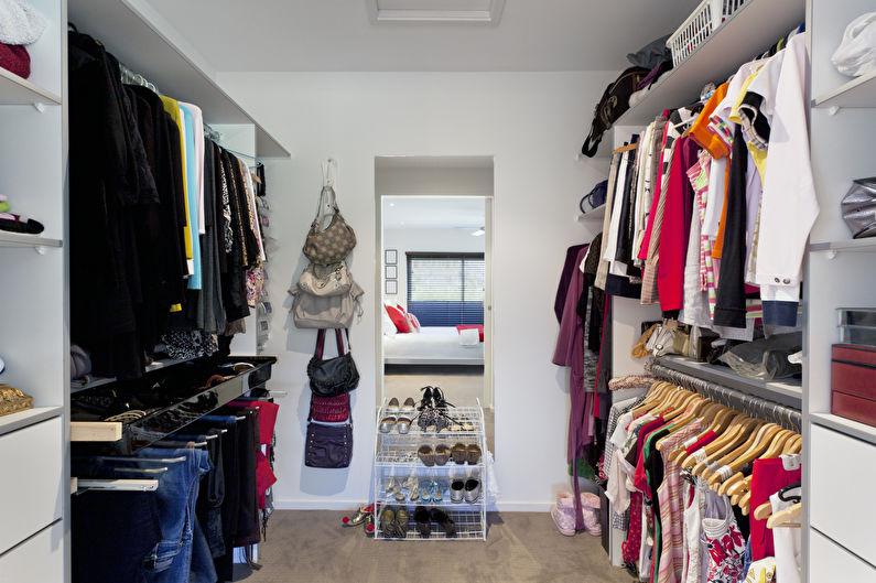 Дизайн гардеробной комнаты - Отделка стен