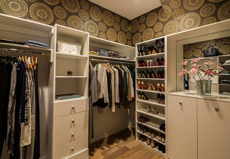 Дизайн гардеробной комнаты - фото