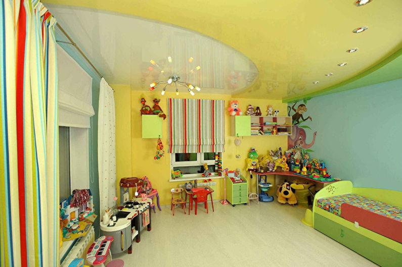 Подвесной потолок в детской - фото